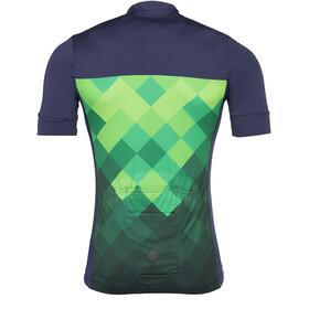 Triple2 Velozip Performance Kortärmad cykeltröja Herr Jersey Men grön/blå